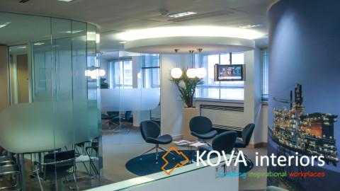 Office interiors, kova partitions