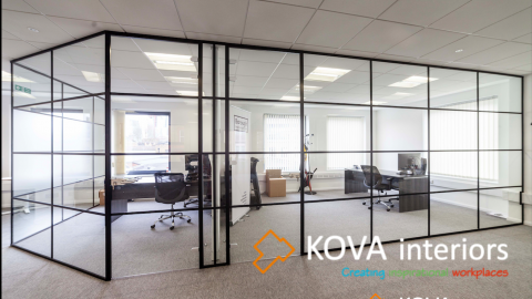 Industrial Style Black Framed Partitions