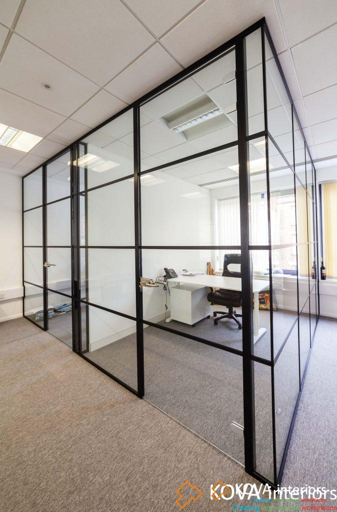 Industrial Style Black Framed Partition - Kova