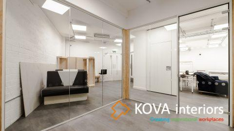 modern double glazed partition