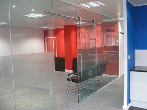 modern sliding glass door