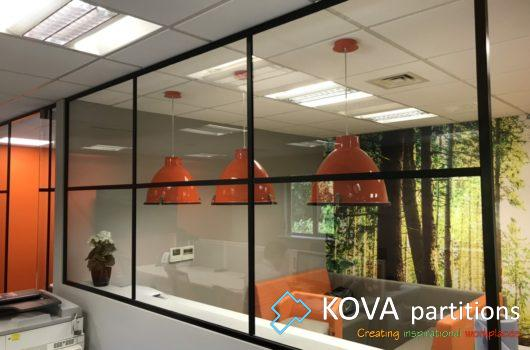 WMS glass partitions by Kova Partitions