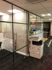 WMS glass walls by Kova Partitions
