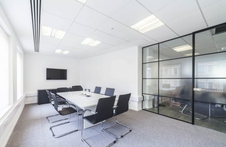 Borough Engineering glass partition for meeting room