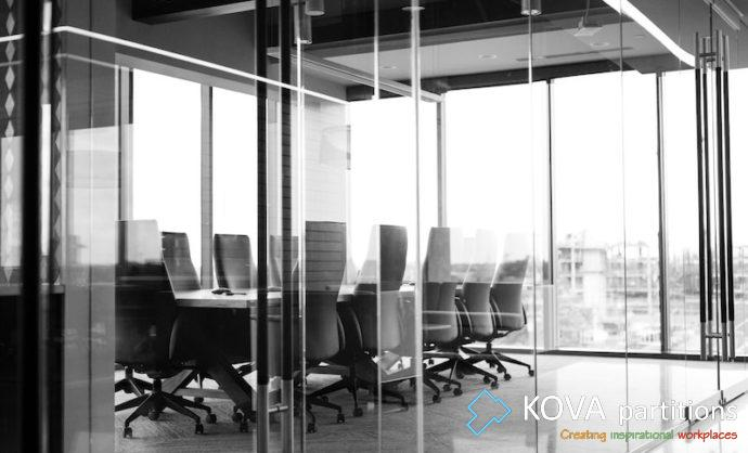 Office Glass Partitions Balanced Ambience